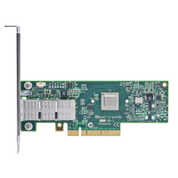 Mellanox ConnectX-3 VPI adapter card, single-port QSFP, QDR IB (40Gb/s) and10GigE, PCIe3.0 x8 8GT/s, tall bracket, RoHS R6 (MCX353A-QCBT)画像