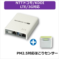 PLAT'HOME OpenBlocks IoT VX1 LTEモジュール(NTTドコモ/KDDI)搭載 + ほこりセンサー セット (OBSVX1/dLB-REX-BTPM25)画像